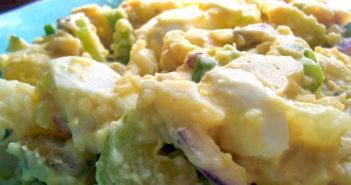 Healthy Cuban Potato Salad Recipe - dairy-free, gluten-free, with egg-free option