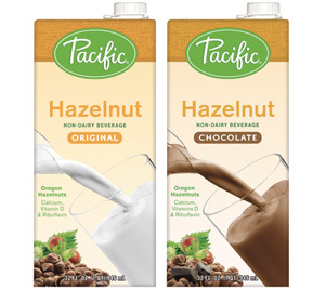 Pacific Hazelnut Non Dairy Beverage - a rich and creamy alternative available in original or chocolate!