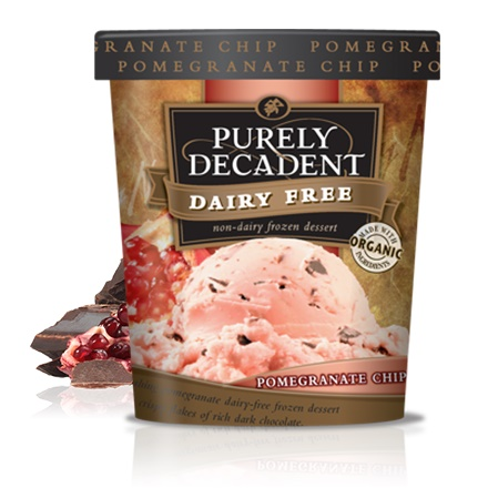 Purely Decadent Dairy-Free Ice Cream - Pomegranate Chip Pint