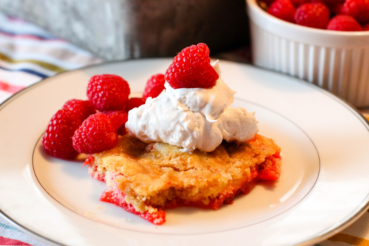 Rhubarb Dump Cake Recipe - A Simply Delicious Dairy-Free Spring Dessert (also nut-free and soy-free)