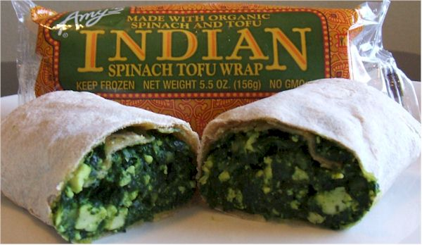 Amy's Indian Spinach Wrap