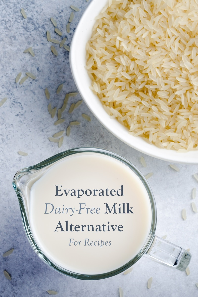 Easy Dairy-Free Evaporated Milk Substitute Recipe from Rice, Soy, Nut, or Coconut Milk - plus other options for substitution! (plant-based, vegan-friendly, plus paleo, keto, coconut-free, or allergen-free, as needed)