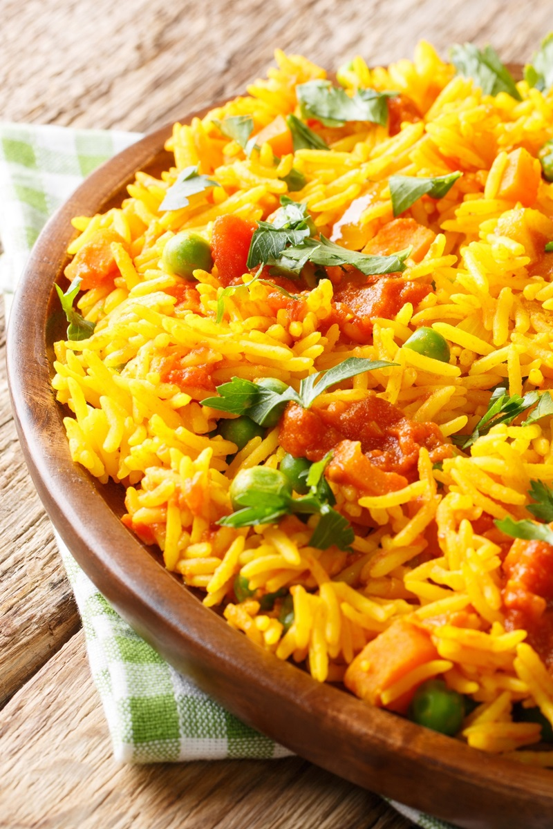Turmeric Rice Recipe (naturally dairy-free, gluten-free, vegan, healthy side)