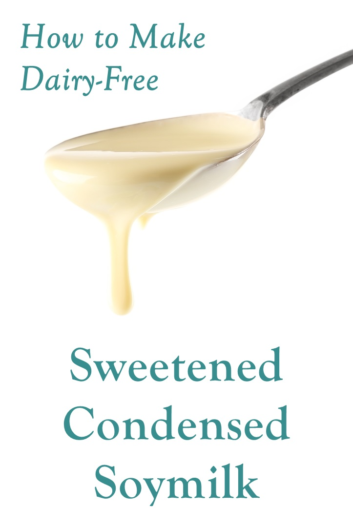 Dairy-Free Sweetened Condensed Soymilk Recipe - just 3 ingredients, straight from the pantry, and vegan!