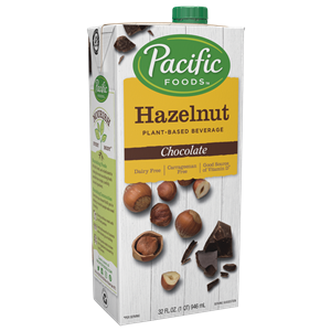 Pacific Foods Hazelnut Milk Beverage is a dairy-free, plant-based beverage in three varieties.