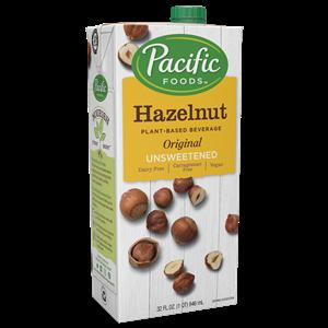 Pacific Foods Hazelnut Milk Beverage is a dairy-free, plant-based beverage in three varieties.