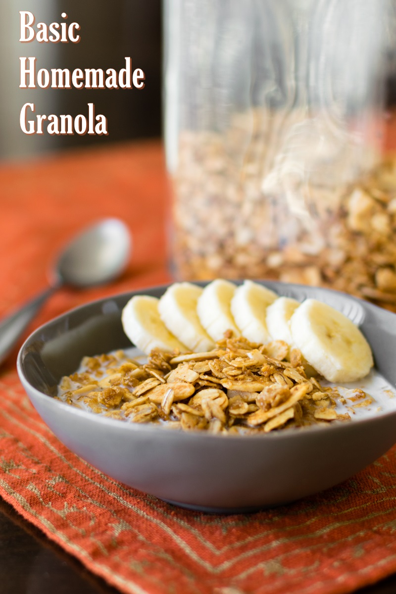 Basic Homemade Granola Recipe (naturally dairy-free, gluten-free, and optionally vegan and nut-free)