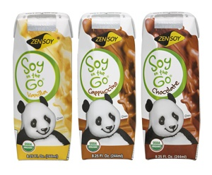 ZenSoy Soy on the Go Organic Soymilks (Review) - single serve, dairy-free, vegan, and in 3 flavors (Chocolate, Vanilla, Cappuccino)