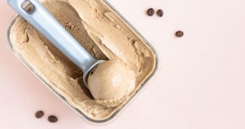 Dairy-Free Kahlua Coffee Ice Cream Recipe - a grown-up vegan & gluten-free frozen dessert that can be sweetened to taste!