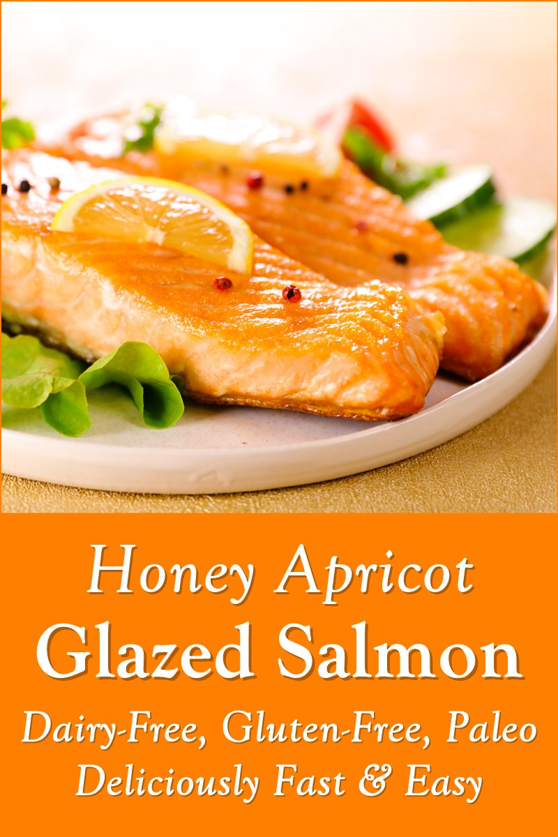 Honey Apricot Glazed Salmon Recipe - naturally paleo, gluten-free, dairy-free, nut-free, soy-free, and deliciously fast and easy!