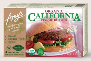 Amy's Veggie Burgers Reviews and Info - Seven Varieties - all dairy-free, vegan, and plant-based! Includes the meaty quarter pound, plant-forward California, and more.