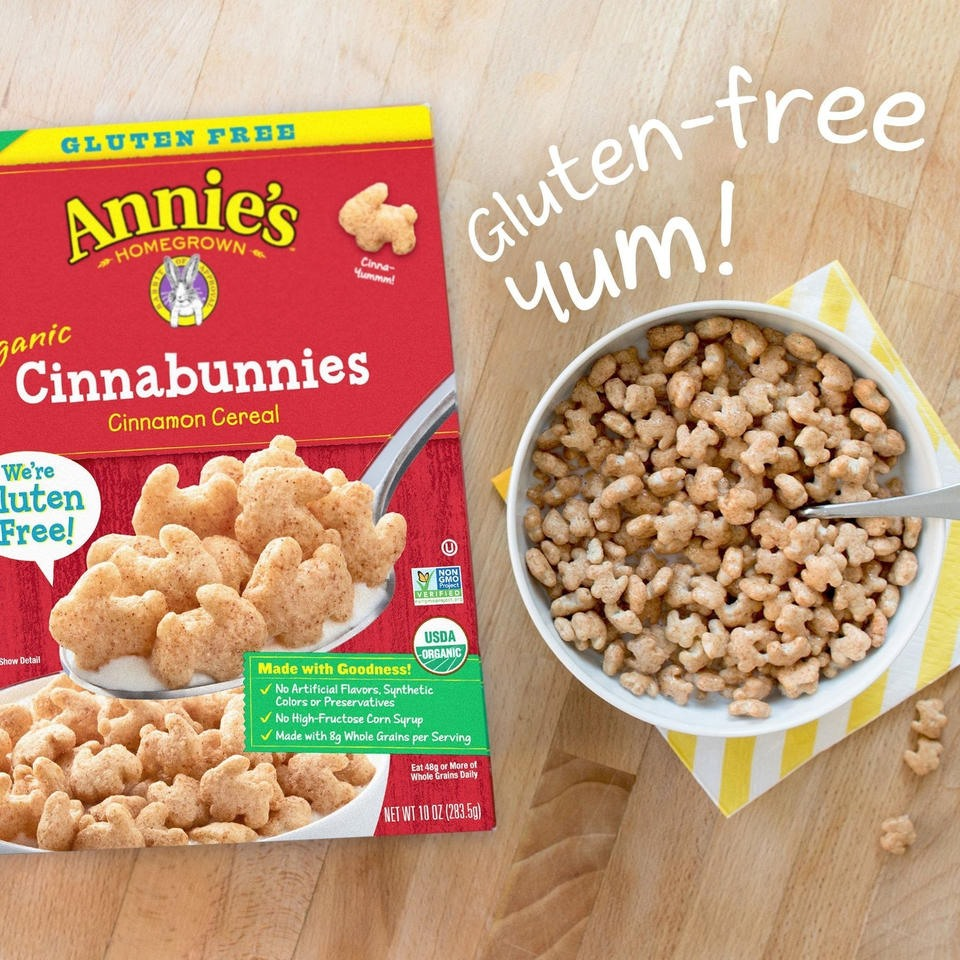 Annie's Bunnies Cereals Reviews and Info - Dairy-free, Soy-free, Nut-free, with Gluten-free Options - 5 fun flavors
