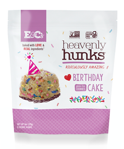 Heavenly Hunks Reviews and Info - Soft, chewy, vegan, and gluten-free cookies. Pictured: Birthday Cake