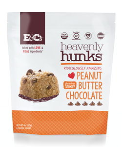Heavenly Hunks Reviews and Info - Soft, chewy, vegan, and gluten-free cookies. Pictured: Peanut Butter Chocolate