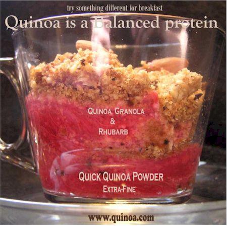 Quinoa Rhubarb Granola