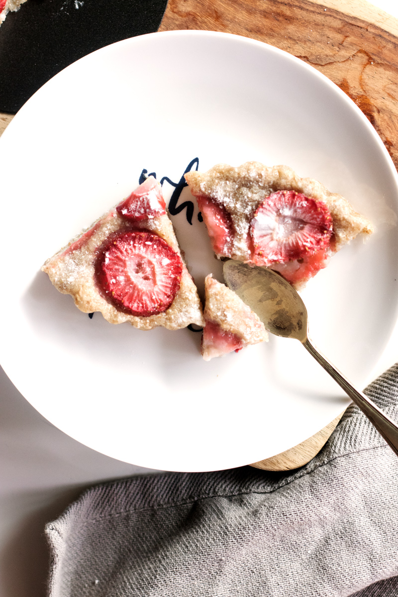 Vegan Strawberry Clafoutis Recipe - unbelievably dairy-free, egg-free and nut-free!