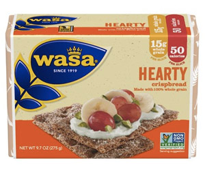 Wasa Crispbread - The healthiest cracker alternative! Made with just a handful of ingredients, these whole grain crackers make a perfect snack or meal.