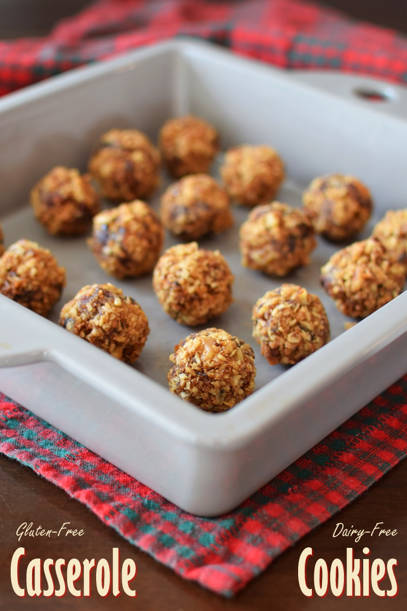 Healthier Casserole Cookies Recipe - dessert or a snacking treat (dairy-free, gluten-free, soy-free)