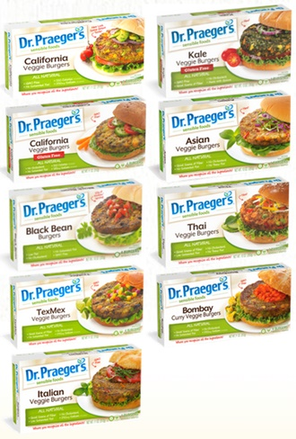 Dr. Praeger's Veggie Burgers: 9 Flavorful Varieties (all dairy-free; select are vegan + gluten-free,)