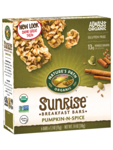 Nature's Path Sunrise Chewy Granola Bars Reviews and Info - Dairy-Free and Gluten-Free Varieties