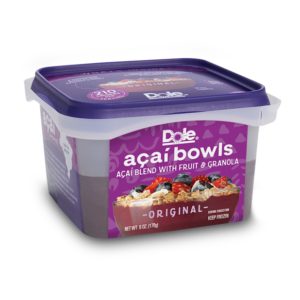 Dole Smoothie Bowls Reviews and Info - Acai Bowls, Dole Whip, and Spoonable Smoothies - dairy-free and ready-to-eat from the freezer. Pictured: Original Acai