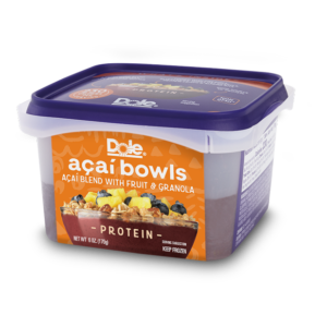 Dole Smoothie Bowls Reviews and Info - Acai Bowls, Dole Whip, and Spoonable Smoothies - dairy-free and ready-to-eat from the freezer. Pictured: Protein Acai