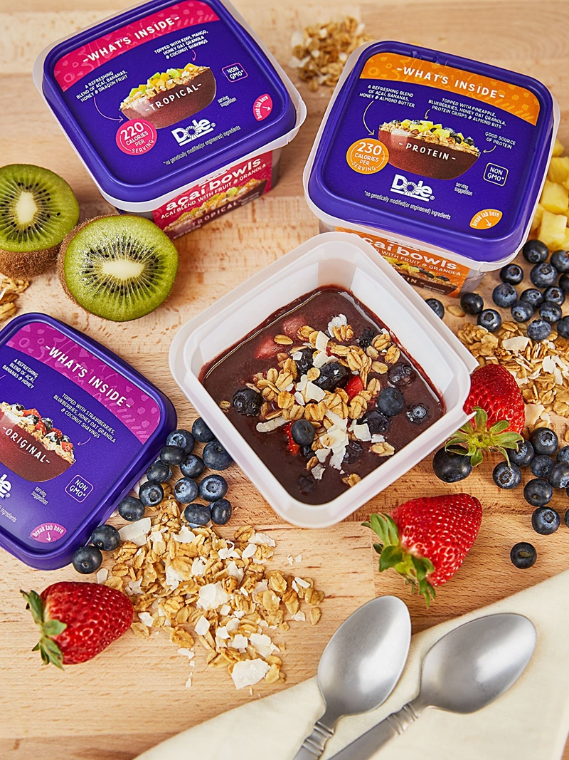 Dole Smoothie Bowls Reviews and Info - Acai Bowls, Dole Whip, and Spoonable Smoothies - dairy-free and ready-to-eat from the freezer. Pictured: Acai Bowls