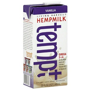 Living Harvest Tempt Hempmilk Reviews and Information - rich in essential amino acids, omega 3 and omega 6. Dairy-free, soy-free, gluten-free, vegan, with paleo and keto options. Pictured: Vanilla