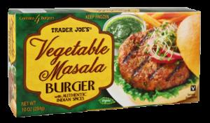 Trader Joe's Vegetable Masala Burger Reviews and Info - plant-based, dairy-free, vegan