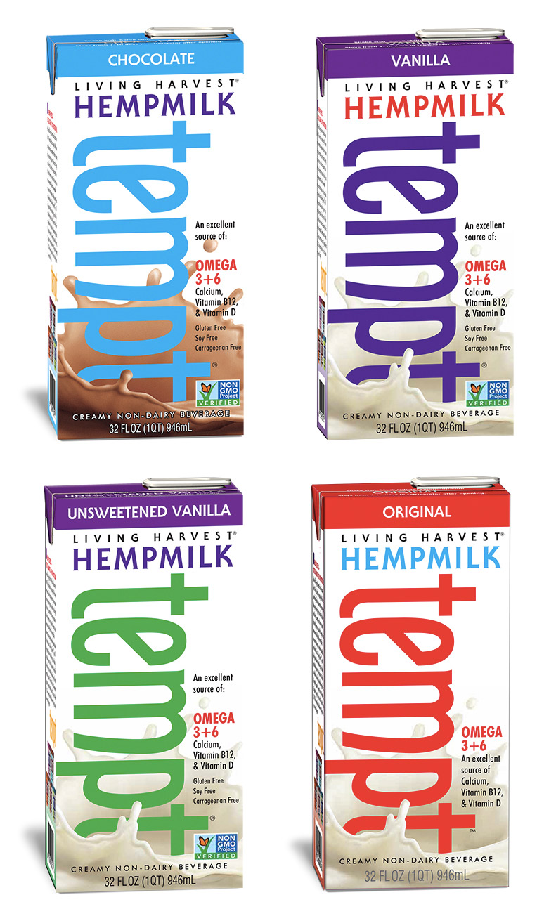 Living Harvest Hemp Milk - the perfect dairy-free, nut-free, and soy-free milk alternative! Available in Original, Vanilla, Chocolate, and Unsweetened varieties.
