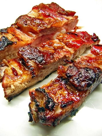 Asian Honey Garlic Ribs Recipe - cooked low and slow on the grill (naturally dairy-free)