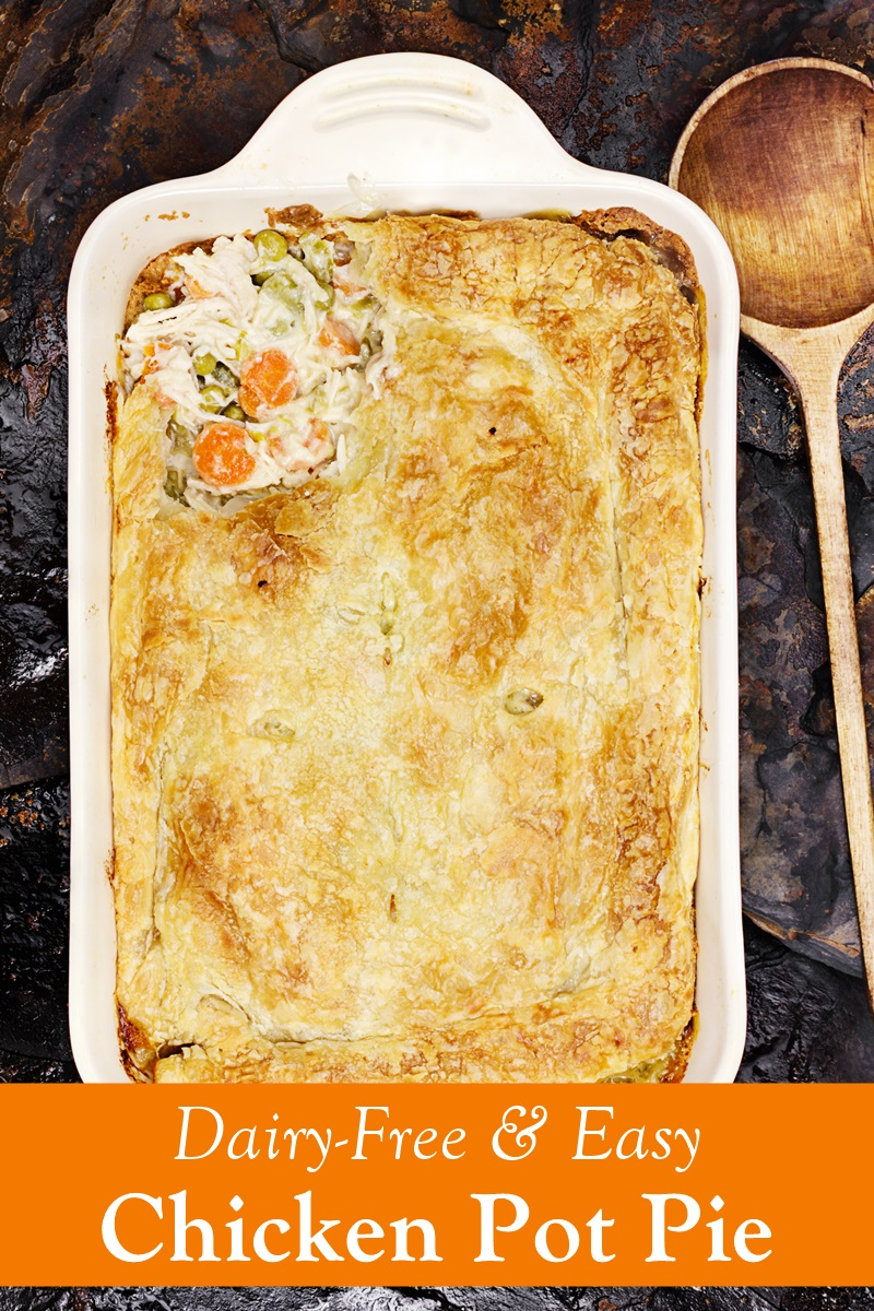 Dairy-Free Chicken Pot Pie Recipe with Curry Option