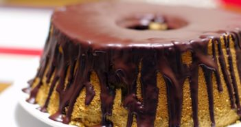Espresso Chiffon Cake Recipe with Dairy-Free Chocolate Ganache