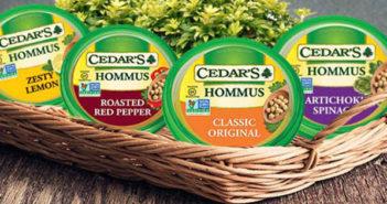 Cedar's Hommus - this hummus is offered in 22 different dairy-free vegan flavors!