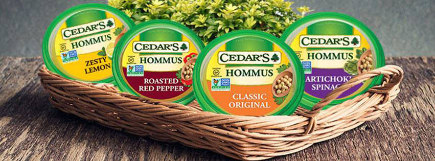 Cedar's Hommus - this hummus is offered in 22 different dairy-free vegan flavors!