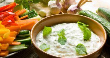 Dairy-Free Tzatziki with Fresh Mint (vegan, gluten-free, optionally soy-free recipe)