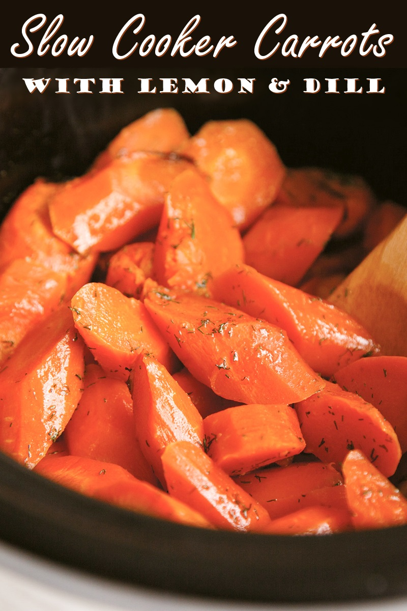 Slow Cooker Carrots Recipe with Lemon and Dill (vegan, paleo-friendly, gluten-free, dairy-free, and allergy-friendly)