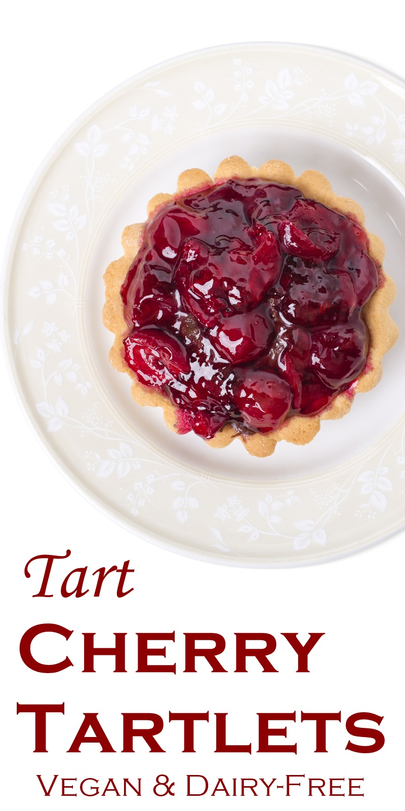 Vegan Tart Cherry Tartlets Recipe - a fun tea time treat. Dairy-free, egg-free, dessert with gluten-free and nut-free options.