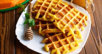 Dairy-Free Pumpkin Spice Waffles Recipe that Kids like to Eat and Make! #kidfriendlyrecipe #pumpkinwaffles #dairyfreewaffles