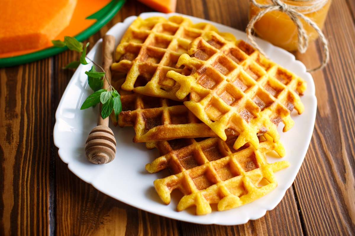Dairy-Free Pumpkin Spice Waffles Recipe that Kids like to Eat and Make! #kidfriendlyrecipe #pumpkinwaffles #dairyfreewaffles