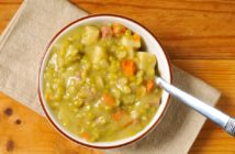 Bob's Stick-To-Your-Ribs Split Pea Soup Recipe - naturally dairy-free, gluten-free, nut-free, oil-free, soy-free, and allergy-friendly - a classic from Bob and Charlee of Bob's Red Mill