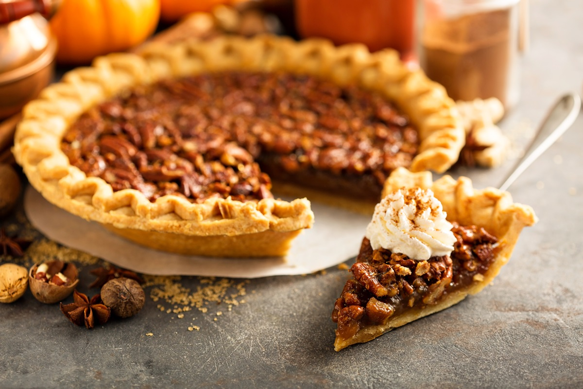Vegan Pecan Pie Recipe by Chef Eric Tucker of Millennium Restaurant - a Holiday Classic, Rich, Indulgent.