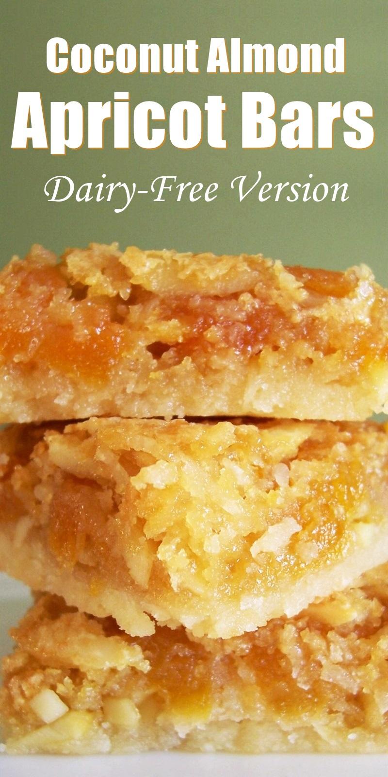Coconut Almond Apricot Bars Recipe (Dairy-Free Version)