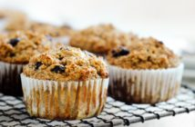 Vegan High Fiber Muffins Recipe - whole grain, with more protein and lower net carbs. Great for breakfast!