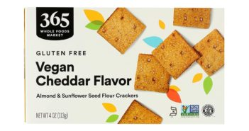 365 Vegan Cheddar Crackers are Whole Foods Version of Dairy-Free, Gluten-Free, Grain-Free, Healthy Cheese Nips