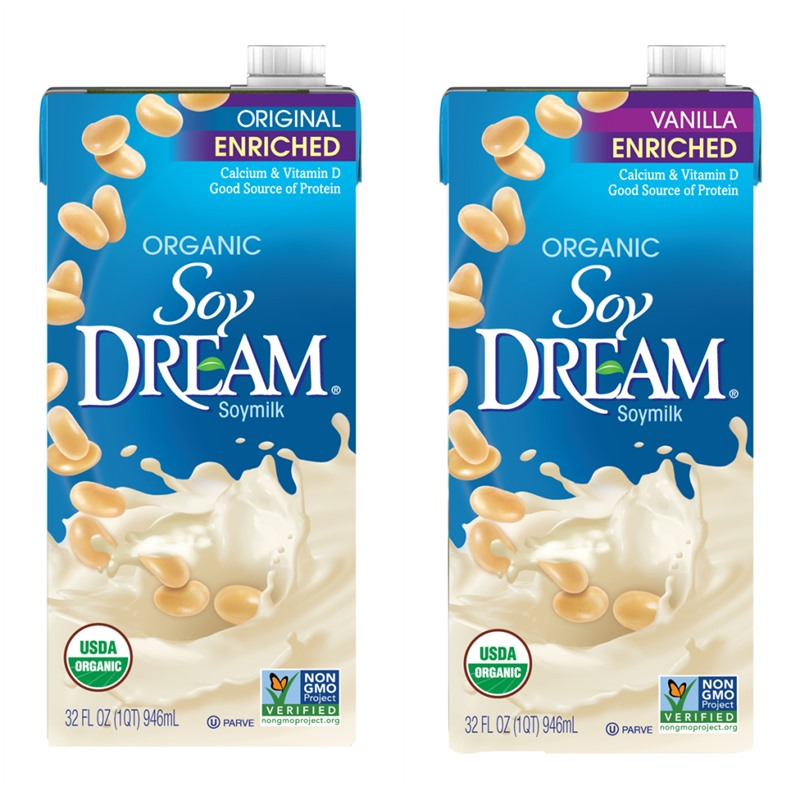 Soy Dream Milk Beverage Review and Information - dairy-free, vegan, enriched soymilk in two organic varieties