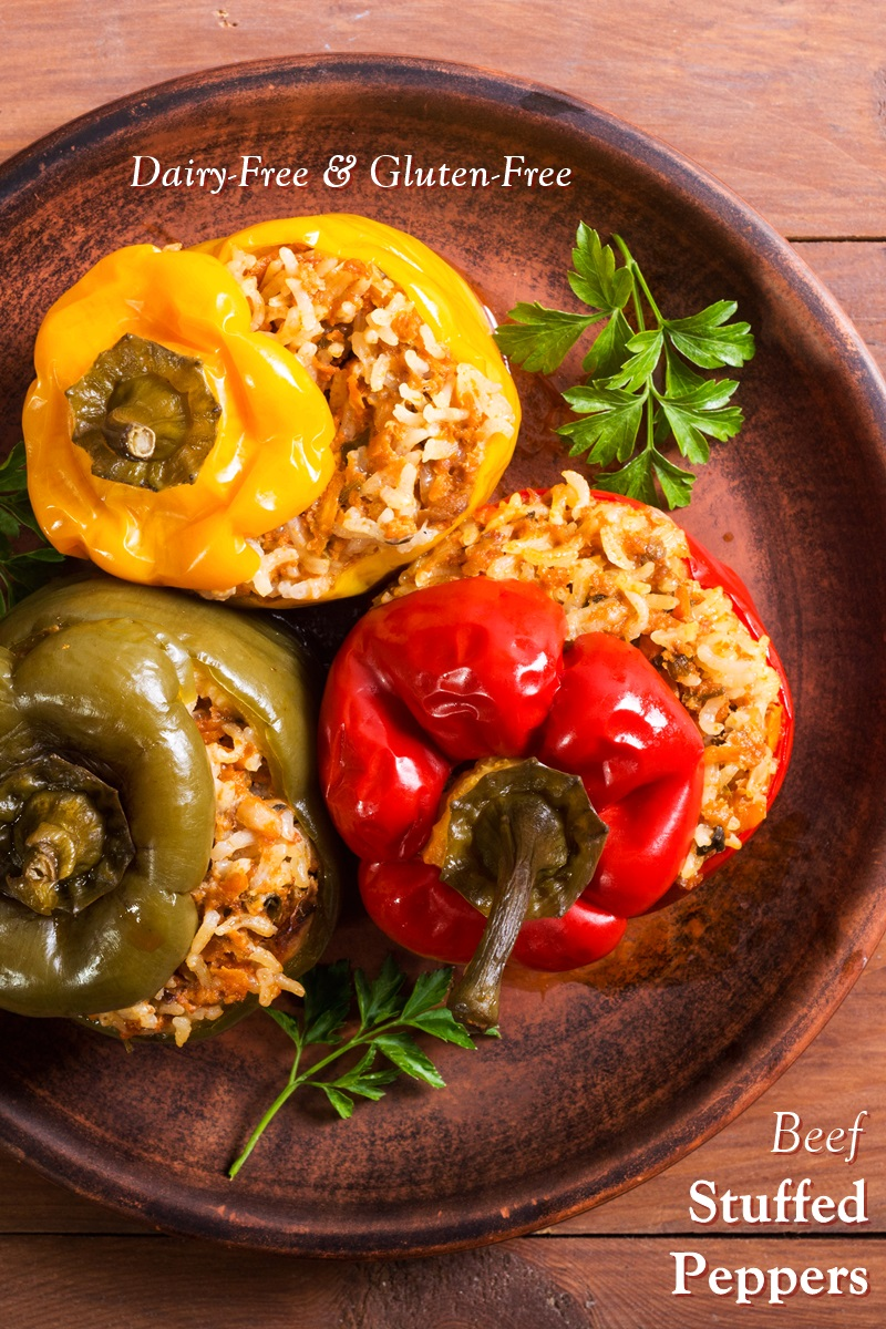 Dairy-Free & Gluten-Free Beef Stuffed Peppers Recipe