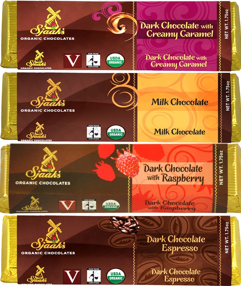 Sjaak's Organic Chocolate Bars (Review) - all vegan, dairy-free (milk and dark varieties!)
