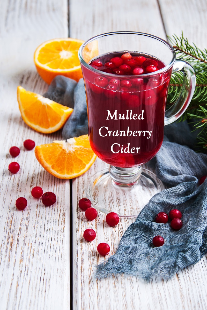 Non-Alcoholic Mulled Cranberry Cider Recipe - an alcohol-free, top allergen-free, optionally vegan holiday drink for all to enjoy