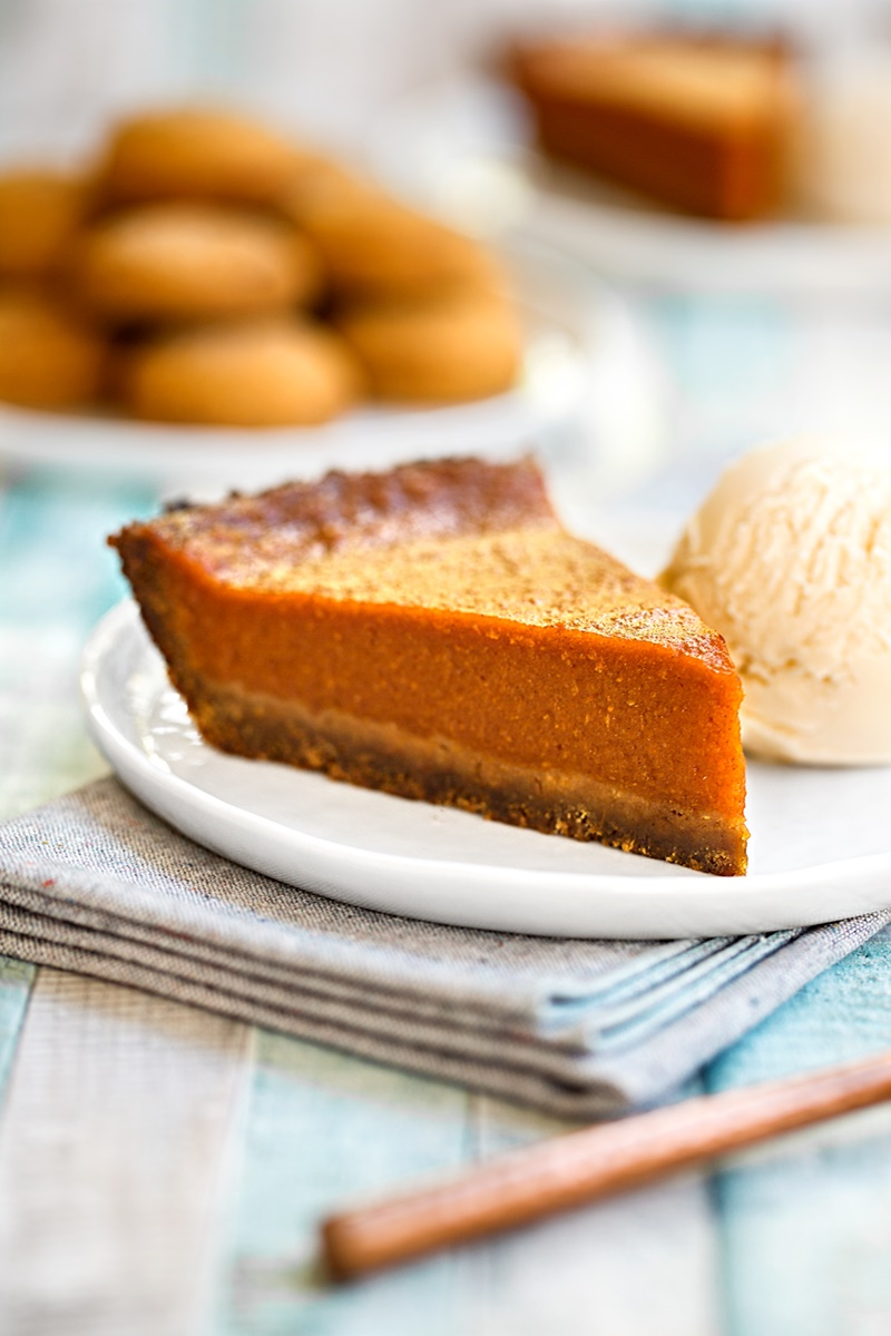 22 Dairy-Free Pumpkin Recipes (Pictured: Vegan and Gluten-Free Gingerbread Pumpkin Pie)
